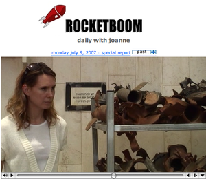 Rocketboom special report from israel